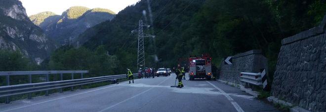 L'incidente a Dogna sulla statale 13 Pontebbana