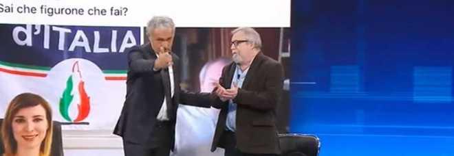 Non è l'Arena, Massimo Giletti caccia dallo studio l'ex brigatista Raimondo Etro dopo la frase choc