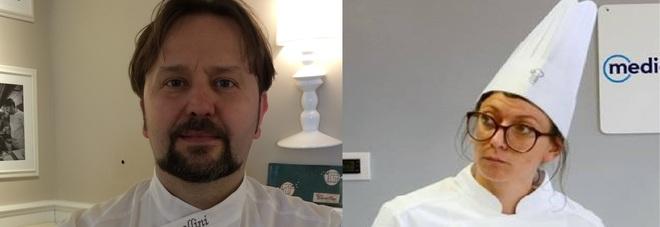 Lo chef bio Luca Cavallini e l'emergente Marta Sbaffi: il veterano e la promessa