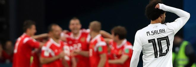 Egitto battuto 3-1: la Russia quasi agli ottavi, Salah quasi fuori