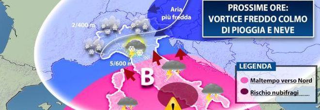 Meteo, l'inverno è arrivato: la burrasca si sposta nel centro Italia/Previsioni
