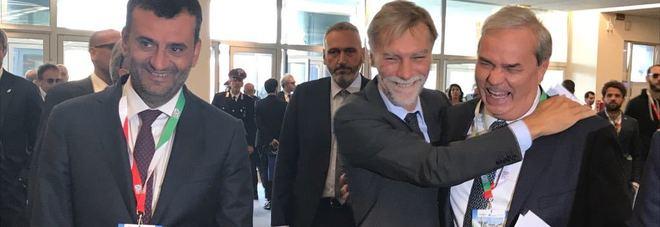 Antonio Decaro Presidente Anci, ministro Graziano Delrio e Sindaco Achille Variati