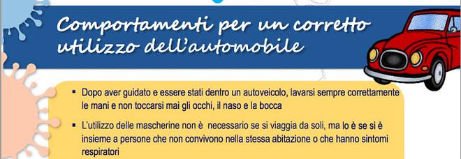 Fase 2 e automobile, le regole dell'Iss: «Lavarsi sempre le mani, finestrino aperto e distanza di sicurezza»