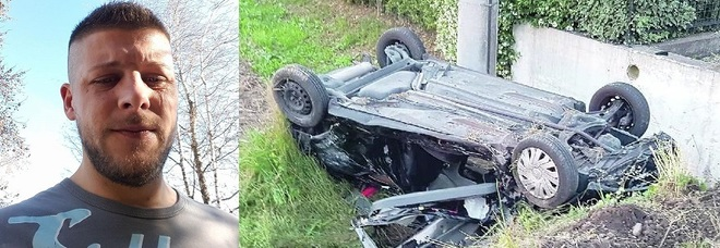 Auto contro il muro e poi capovolta  nel fossato: muore a 30 anni
