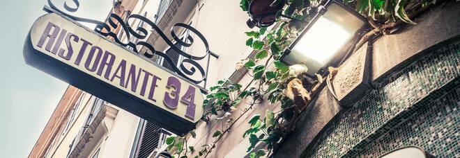 """Roma, il ristorante """"Al 34"""" di via Mario de' Fiori riapre dopo l'incendio dello scorso giugno"""