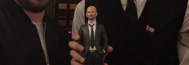 Pep Guardiola con il maestro Genny Di Virgilio