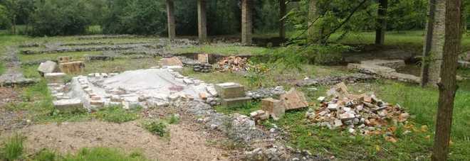 La zona del parco archeologico a Pordenone