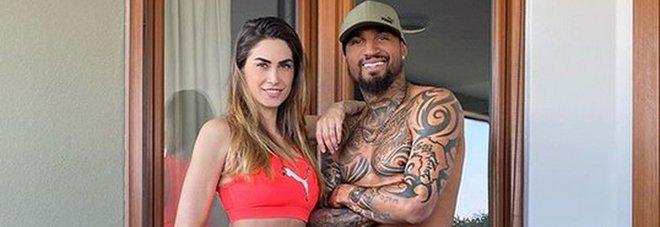 Melissa Satta e Kevin Boateng (Instagram)