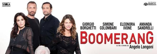 Sala Umberto, ecco 'Boomerang': Amanda Sandrelli, Giorgio Borghetti e i parenti serpenti