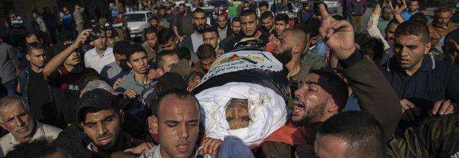 Il funerale del capo jihadista Abu al Ata a Gaza