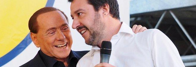 Berlusconi e Salvini (ansa)