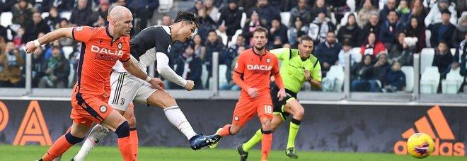 Cristiano Ronaldo rende tutto facile per la Juve: 3-1 all'Udinese