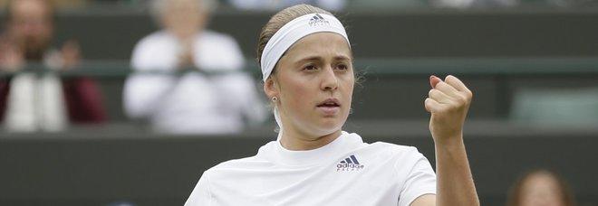 Wimbledon, la Ostapenko in semifinale contro la Kerber