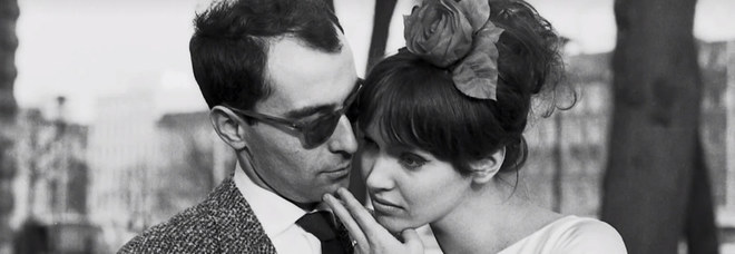 Anna Karina con Jean-Luc Godard