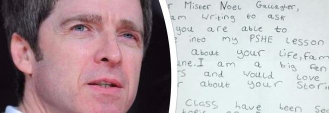 """""""Caro Noel Gallagher vieni a parlare di droga alla mia scuola?"""" E l'ex degli Oasis risponde al piccolo fan così"""