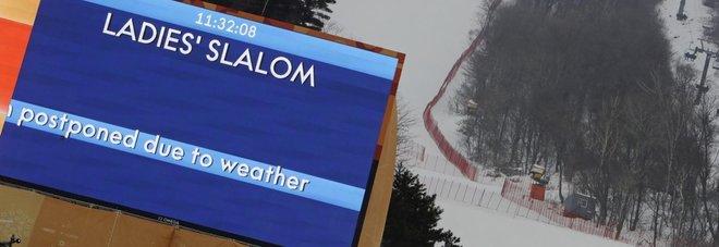 Pyeongchang, maltempo ancora protagonista: slalom donne rinviato a venerdì