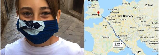 Covid, non può prendere l'aereo, Romeo, 10 anni, arriva a piedi da Palermo a Londra per rivedere la nonna