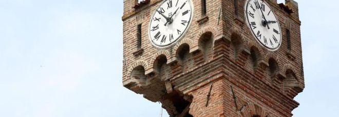 La Torre dell'orologio di Novi è crollata del tutto