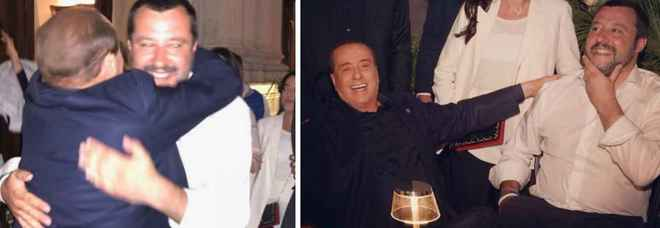 L'abbraccio tra Salvini e Berlusconi  «Nessuno ci dividerà»