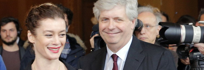 Stephane Lissner, direttore dell'Opera di Parigi e Aurelie Dupont, direttrice del corpo di ballo