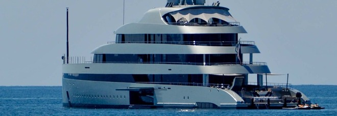 Lo yatch Savannah di Lukas Lundin al porto di Ostia (Foto: Nino Ippoliti)