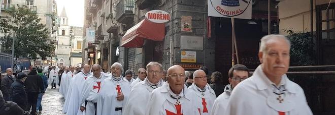 La marcia silenziosa dei Templari a Napoli