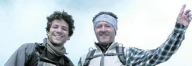 Walter Simeoni insieme al figlio