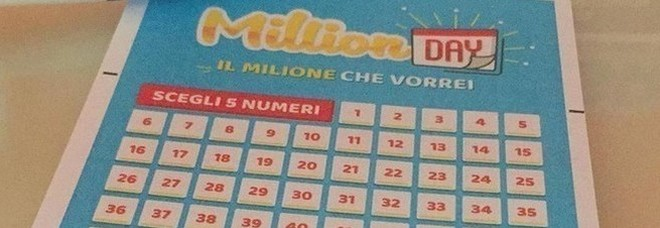 Million Day, diretta estrazione di oggi sabato 9 febbraio 2019: i numeri vincenti