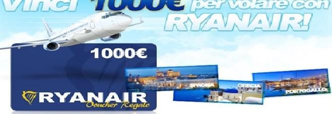 Ryanair, mail truffa offre voucher per voli gratis