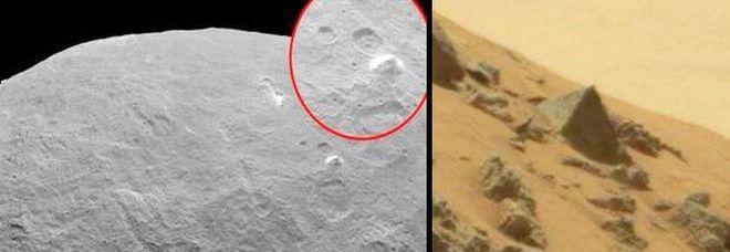 Le piramidi scoperte sull'asteroide Cerere e su Marte