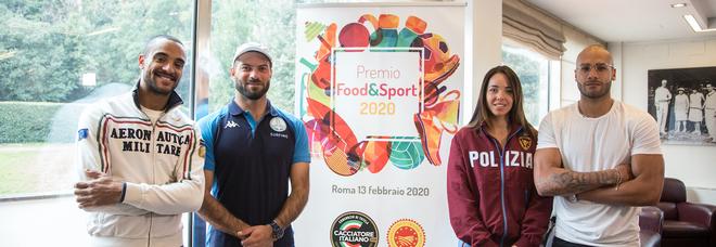 Andrew Howe, Marcell Jacobs, Roberto D'Amico e Alice Volpi: il premio Food e Sport ai campioni olimpici di Tokyo