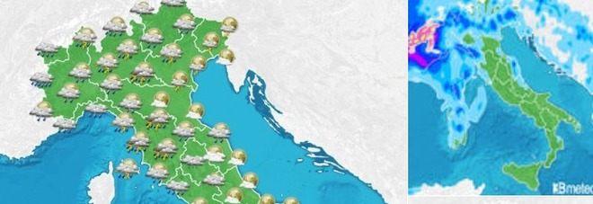 Ondata di maltempo in arrivo dal Nord, netto calo delle temperature