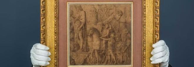 Il disegno di Mantegna (Foto Sothebys)