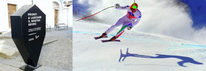 Mondiali di sci: «Campagna funerea». Ironia sui totem come bare