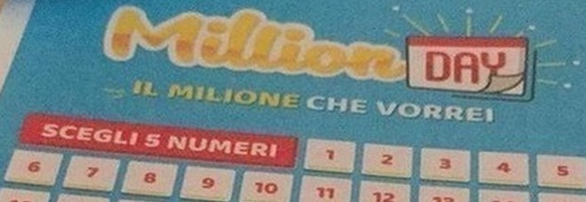 Million Day, estrazione di giovedì 22 agosto 2019: i cinque numeri vincenti
