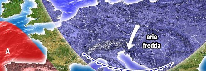 Meteo, torna l'inverno: «Neve sull'Appennino Gelo fino al 22 aprile»