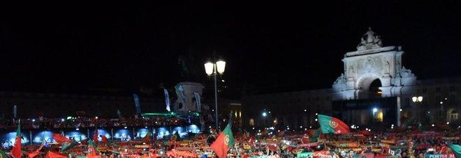 Tifosi portoghesi in festa
