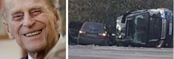 Il principe Filippo si ribalta con l'auto: potrebbe essere perseguito per l'incidente