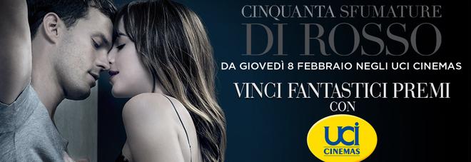 Vinci con UCI Cinemas e Cinquanta sfumature di Rosso