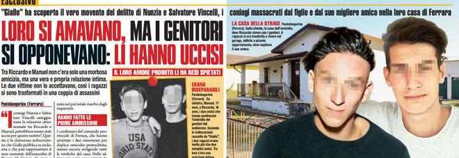 """""""Riccardo e Manuel si amano, genitori si opponevano: li hanno uccisi"""""""