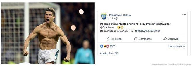 Ronaldo e il Frosinone calcio