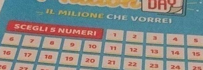 Million Day, i numeri vincenti di mercoledì 8 gennaio 2020