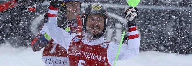Coppa del Mondo, Hirscher vince lo slalom di Val d'Isere. Gross chiude sesto