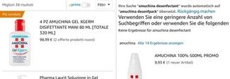 Coronavirus, in Italia prezzi alle stelle per gli igienizzanti: Amuchina su Amazon a 98,99 euro