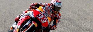 Aragon, Marquez più veloce nelle terze libere. Rossi cade 18°
