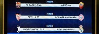 È Italia-Spagna in Champions: Juve-Real e Roma-Barcellona