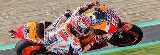 Gp di Spagna: Marquez da record nelle terze libere, Rossi 7°
