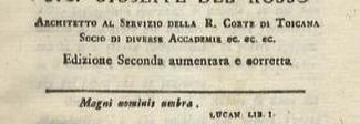 16 maggio 1760 Nasce a Roma l'architetto Giuseppe Del Rosso