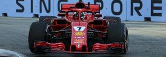 Singapore, Raikkonen il più veloce nelle seconde libere, poi Hamilton e Verstappen. Problemi per Vettel