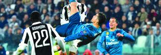 La rovesciata di Cristiano Ronaldo alla Juventus in lizza come gol dell'anno